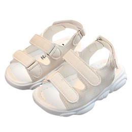 2019 sandalias abiertas New Toddler Kids Baby Girls Boys Summer Open Toe Zapatos de playa Sandalias Sneakers sandalias abiertas baratos