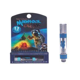 Синие танки онлайн-Moonrock Clear Carts 1.0 мл G5 Vape Картриджи Бак Керамическая катушка Густой масляный распылитель Moon Rock Blue Ring Запрессовываемые наконечники с пакетом
