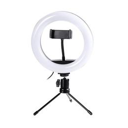 Fotografia LED selfie Light Ring 20 CM dimmerabili Camera Phone lampada dell'anello 8inch Con Treppiedi da tavolo per il trucco Live Video Studio da lampada da incasso a led fornitori