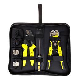 Canada JX-D4301 fonctionnel à cliquet en acier au manganèse à sertir outil pince à dénuder pinces pour terminal, kit P10 avec coupe-câble cheap cable cutter stripper tool Offre