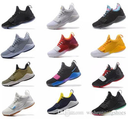 shine sneakers Promo Codes - (with box)2018 Paul George PG1 Shining Ferocity Men's Basketball Shoes Cheap Sale PG 1 Los Angeles Home men Sport shoe Sneaker Size 40-46