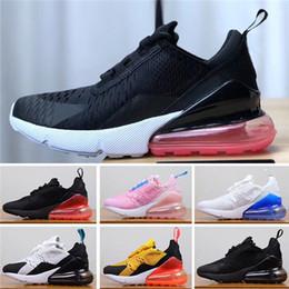 Nike Air Max shoes младенцев 270 детей кроссовки розовый белый пыльный кактус 27с открытый малыш спортивные состязания мальчик девочка детские кроссовки от Поставщики белые туфли для мальчика-малыша