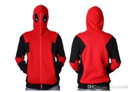 2019 deadpool 3d костюм 2017 Deadpool Hoodie Marvel с капюшоном Мужские Толстовка на молнии Верхняя одежда Куртка 3D Аниме Персонажи Толстовки Deadpool Косплей Костюм скидка deadpool 3d костюм
