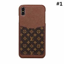 2019 telefone celular moonor moon Novo luxo designer de moda capa de couro grade de volta telefone capa para iphone x xs max com cartão case para iphone 6 8 plus