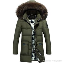 Argentina Venta al por mayor- Nuevo estilo 2016Thick Warm Winter pato abajo chaqueta para hombres impermeable cuello de piel Parkas con capucha estilo occidental de alta calidad cheap wholesale western jackets Suministro