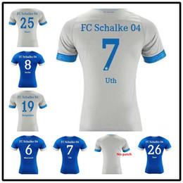 205312ec8 AAA++2019 Schalke Home Blue Soccer Jersey 18 19 Schalke 04 Away Football  Shirts 2019  7 Uth  8 Serdar  10 Bentaled Football Jerseys