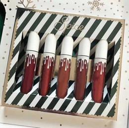 Brillo labial Maquillaje mate 5 colores New Sugar Spice Liquid Lipsticks Lip Cream Labios set Hidratante y de buena calidad Envío gratuito desde fabricantes