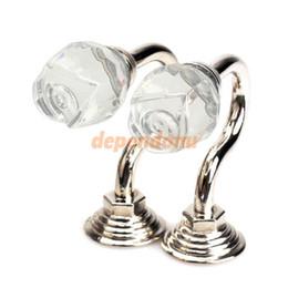 Tende da tenda online-2019 vendita calda nuovo a buon mercato 2pcs vintage parete di cristallo tieback tenda migliore gancio nappa asciugamano gancio argento