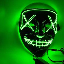 silikon menschliche gesichtsmaske Rabatt Weihnachtsmaske LED Leuchten Partei Masken Die Säuberung Wahljahr Große Lustige Masken Festival Cosplay Kostüm Liefert Glow In Dark 10 farben