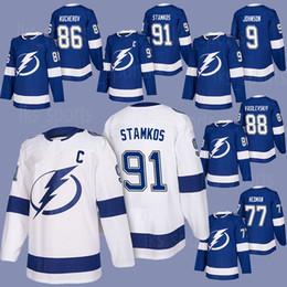 Tampa Bay Lightning Jerseys 91 Steven Stamkos 86 Nikita Kucherov 77 Victor  Hedman 24 Ryan Callahan 18 Ondrej Palat cfae9252a