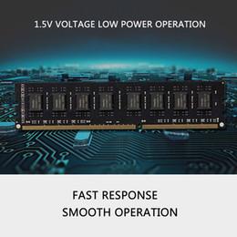 Ddr3 computador desktop on-line-Computador cartão de memória DDR3 1600 4G computador desktop memória vara marca máquina de memória dedicada por atacado