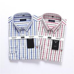 Deutschland Herren hochwertige Business-Mode gestreiften karierten T-Shirt Herren klassische Langarm-Monochrom-Shirt neue lässige Polo-Shirt cheap classic striped long t shirt Versorgung