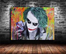 2019 dipinti astratti bianchi neri rossi Alec Monopoly, Trump Is The Joker, 1 Pezzi Stampe su tela Wall Art Olio su tela Home Decor (Senza cornice / Incorniciato) 16X20.