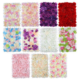 frames decorations walls Promo Codes - 40*60cm New Wedding High-density Flower Wall with Stand Colorful Flower Frame For Wedding Party Decoration Supplies Can Customized