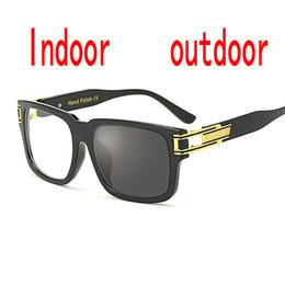 ff9e9cb1f4be3 Sun Photochromic Finished Men Women Myopia Eyeglasses Frame with color lens  Sun glasses optical Myopia Eyewear Male FML