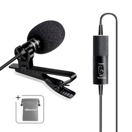 Wholesale UBeesize Lavalier Lapel Microphone E Micro omnidirectionnel professionnel avec système Easy Clip On