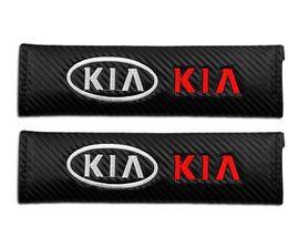 2019 accesorios para kia 2 piezas de fibra de carbono del cinturón de hombro del coche cinturón de seguridad para KIA K2 RIO K3 K5 KX3 KX5 Sorento Forte Optima Sportage accesorios del coche rebajas accesorios para kia