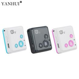 perseguidor de alarma personal gsm Rebajas Alta precisión inteligente RF-V18 Mini GSM Tracker para niños Niños Ancianos Alarma SOS personal Monitor de actividad Alarma de batería baja GPS
