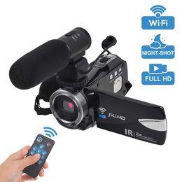 2019 домашнее видео скрытая шпионская камера видеокамера, Полный HD видеокамера 1080P цифровой WiFi камеры 30 кадров в секунду 3 в ЖК-сенсорный экран 16 x цифровой зум ночного видения видеоблоги камеры для Youto