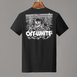 camisetas graficas para hombres Rebajas 19ss men STENCIL T-SHIRT Camiseta de manga corta en color negro con estampados gráficos top para hombre Camisetas blancas para mujer 331