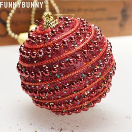 Снежинка онлайн-FUNNYBUNNY Christmas Tree Decoration Hanging Ball Foam Christmas Ball Painting Hanging Snowflake Snow Decor Gold