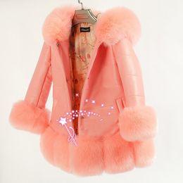 Hohe Qualität Kinder Jacken Mantel Mädchen Winter Faux Pelzmäntel Babykleidung Winter Dicker Mantel Kinder Warme Oberbekleidung 3 Farbe von Fabrikanten