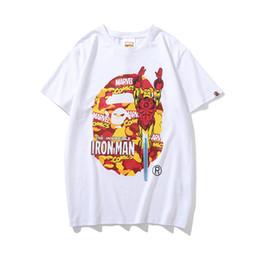 19ss Mens Designer T Shirts Camo Affen Kopf ein Baden T-Shirt Affe Hip Hop Pullover kurze 19BAPE Baumwollhemden Vetements für Mann Frau von Fabrikanten
