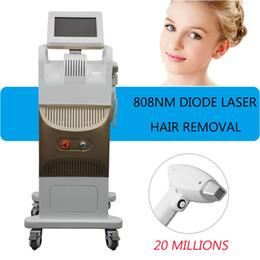 laser freddi Sconti Laser a diodi 808nm di depilazione laser a diodi 808nm Apparecchio di bellezza verticale laser non canale a freddo