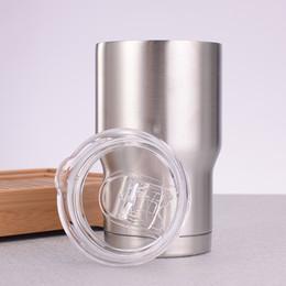 Tazas de acero inoxidable para niños. online-Vasos de acero inoxidable de 14oz con tapa 14OZ Mini vasos de cerveza con aislamiento al vacío para niños Vasos de cerveza Taza de leche de café para niños Taza de coche al aire libre