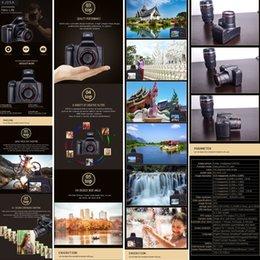16MP HD 1080P anti-vibrazioni della fotocamera reflex digitale da 2,4 pollici schermo TFT con microfono incorporato da