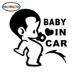 junta directiva del campamento Rebajas HotMeiNi car styling Lovely Funny JDM Niño Niños Bebé En el Coche A Bordo Etiqueta para Ventana Parachoques Camping Lindo Vinyl Decal