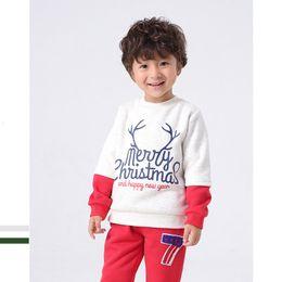 2019 camicia di chrismas Baby Boys Felpe Autunno Inverno Bambini Chrismas maniche lunghe pullover maglione bambini T-shirt 1-5 T vestiti sconti camicia di chrismas