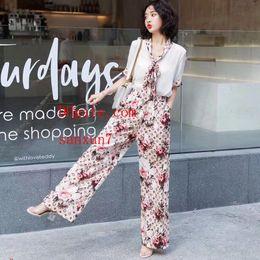 Modemarke Frauen Sommer Komfortable Gedruckt Dünne und leichte Spitze T-shirt Breite beinhosen Set frauen kleidung casual outfit FF-1 von Fabrikanten