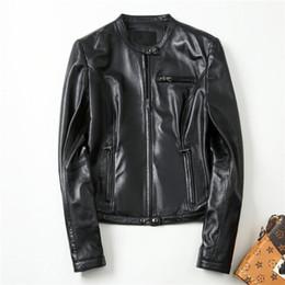a335ab9a699 ... las mujeres Primavera Clásico Moda Corta Motocicleta Chaqueta de piel  de oveja Negro Punk Style Abrigos Hsw0858 supplier black color classic  motorcycle