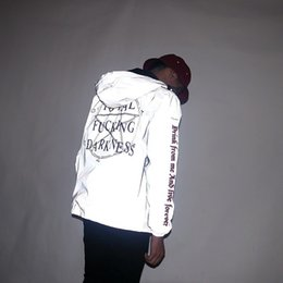 vestiti religiosi Sconti 3M Reflective Giacche da uomo Star of Darkness Religioso Giacca a vento con cappuccio Gothic Vintage Hip Hop Coats impermeabile Abbigliamento uomo
