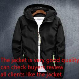 Casacos para homem 5xl on-line-Moda Marca Mens Casacos revestimento do outono Designer revestimento encapuçado com letras Windbreaker Zipper hoodies para homens Sportwear roupa