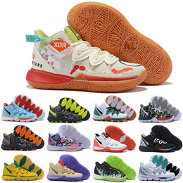 Tarnmarke schuhe online-Kyrie 5 V Schuhe für Männer Hohe Qualität Irving 5S Ikhet Celtics Black Magic Pharao Taco Tarnung Marke Designer Mode Luxus Größe 12 US