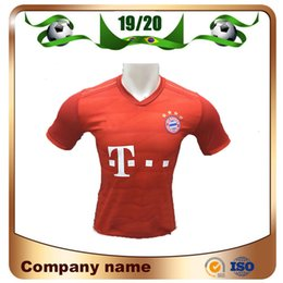 версия red Скидка 19/20 версия для игрока Bayern Munich Soccer Jersey 2019 Home Red 25 MULLER Футболка LEWANDOWSKI ROBBEN JAMES GOTZE RIBERY Футбольная форма