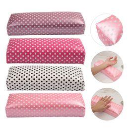 almofada de almofada de braço Desconto 4 Cores Onda Ponto PU Nail Art Mão Almofada Travesseiro para Arm Rest Manicure Salon