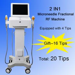 2019 dermatologieausrüstung Micro Needles Maschine Derma Micro Needle Dermatology Therapy Mikronadel RF Hautverjüngung Beauty-Geräte zwei Griffe günstig dermatologieausrüstung