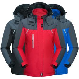 2019 casaco de campo Plus Size 6XL Jaqueta de Caminhada de Inverno Homens Casaco de Esportes Ao Ar Livre Camping Trekking Blusão À Prova D 'Água Jaquetas de Esqui Engrossar Homens Mulheres casaco de campo barato