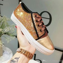 65b7695b312 2019 New Designer fashion Brand Women Casual Sequin shoes Fashion Leather  comfortable Shoes Ladies Flat Casual Shoes sequin casual shoes for sale