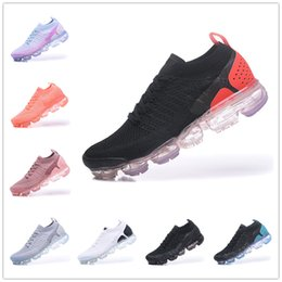 27331724 2018 Summer New Style Fly 2.0 Running Shoes For Men And Women Size 36-45  Black White Grey red With Box