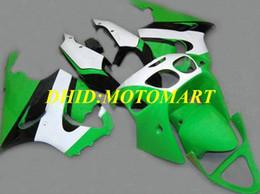 99 ninja zx7r Desconto kit carenagem da motocicleta para Kawasaki Ninja ZX7R 97 99 00 03 ZX 7R 1997 2003 ABS verdes carenagens preto branco conjunto KA04