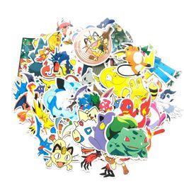 60 Pcs / set Pocket autocollants de monstre de bande dessinée Pikachu Livre Bagages Ordinateur Portable Réfrigérateur de voiture Sticker Jouets C6873 ? partir de fabricateur