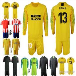 2019 2020 Camiseta de portero de fútbol. NIÑOS OBLAK GRIEZMANN KOKE DIEGO COSTA camiseta chicos 18 19 camisetas de futbol Uniformes de portero desde fabricantes