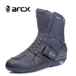 botas de carrera Rebajas Nueva motocicleta ARCX impermeable botas de cuero genuino Racing Boots Riding Road L60612