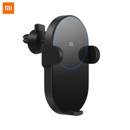 2019 iphone bus 2019 Nuovo arriva Xiaomi Mi Caricatore da auto senza fili 20W 2.5D Vetro elettrico Auto Pinch Ring Lit Ricarica per Xiaomi Smart phone iPhone carcharger