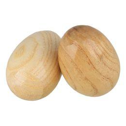 Instrumento musical de madera online-Color de madera Hecho a mano Madera Huevo Shaker Instrumento musical Sonajero Juguete para niños Musical Educación temprana Juguetes Regalos