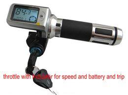 поворот руля газа для электрического велосипеда скутер трехколесный велосипед MTB 36v48v60v с замком / ключом / индикатором скорости полета от Поставщики кабельные разъемы